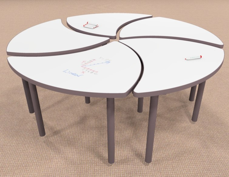 Unique-Shape-classroom-table