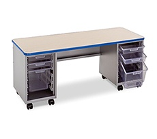 Cascade Teacher Desk Double Pedestal