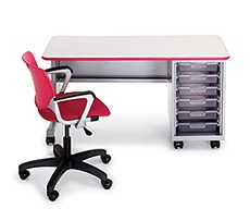 Cascade Teacher Desk - Single Pedestal
