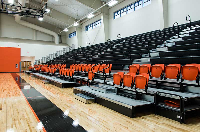 Modern Gym with Bleachers
