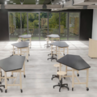 Classroom Furnished with Diversified Woodcrafts Products