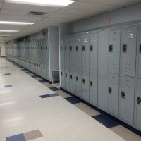 installed gray lockers