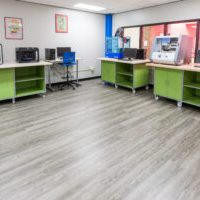 Makerspace fitted with carts from Interior Concepts
