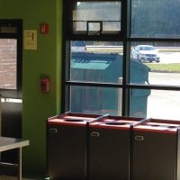 cafeteria waste recepticles