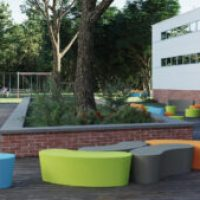 Outdoor Classroom furnished with products from the Flowform™ Outdoor line